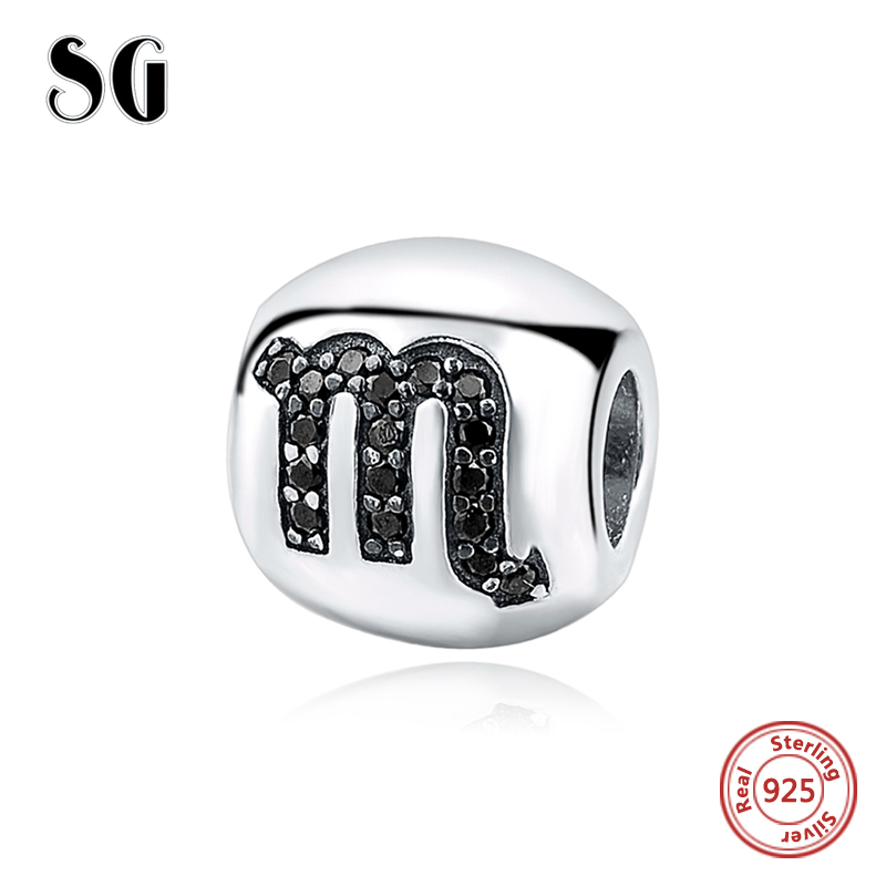 Silver 925 Constellation Bead Fit Original pandora Charms Bracelet Berloques Authentic Pendant DIY sterling-silver-Jewelry Gift