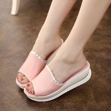 sapato feminino Summer 2016 Girl Sandals Slides Women Slippers Sandals Shoes Wedges Platform Shoes sandalias mujer RD864541