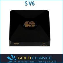 5 unids/lote Original S-V6 Mini HD receptor de satélite S box V6 S soporte CCCAMD Newcamd WEB TV Wifi USB 3 G Biss llave Youporn