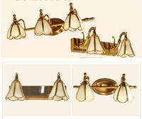 Бесплатная доставка Европейский decora Медь зеркало настенное бра Освещение Крытый зеркало светильник светодиодный настенный светильник укр