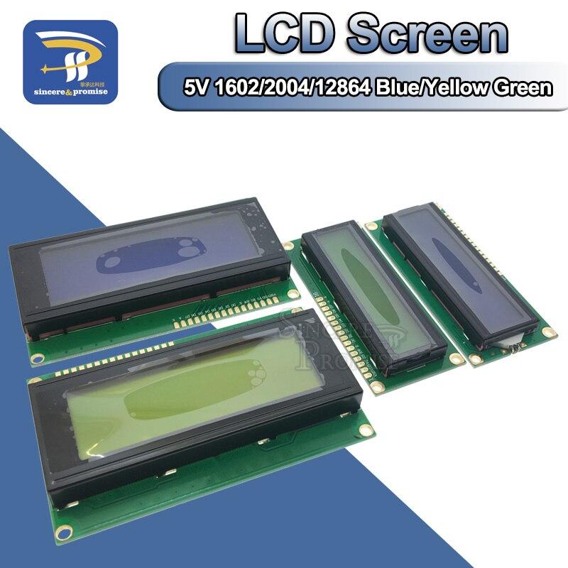 ЖК-дисплей 1602 2004 12864 PCF8574T PCF8574 IIC/2c Интерфейс адаптер пластина 5 В синий/желто-зеленый экран для Arduino