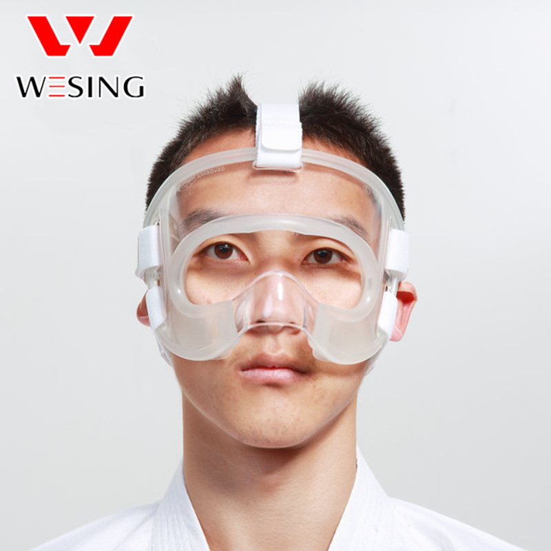 wesing WKF Approved Karate Mask Karate Training Competition Protector Equioment free shipping wesing women karate chest guard female boxing chest protector approved wkf