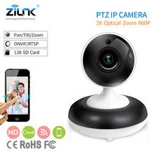 ZILNK 3X Optical Digital Zoom PTZ IP Camera HD 960P Support ONVIF Network Indoor Wireless Wifi Baby Monitor Home Security
