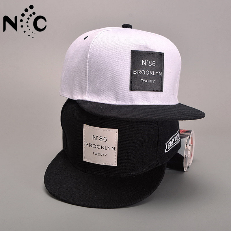 2018 New Men Womens BROOKLYN Letters Solid Color Patch Baseball Cap Hip Hop  Caps Leather Sun Hat Snapback Hats free shopping f54b2601e591