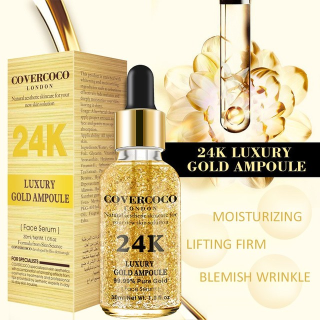 24K Gold Face Serum Firming Moisturizing Face Essence Anti-Wrinkle Anti-Aging Moisturizer Skin Care 2018 Products 4