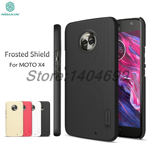sFor Motorola MOTO X4 Case Nillkin Frosted Shield Hard Back Cover Case For MOTO X4 Gift Screen Protector