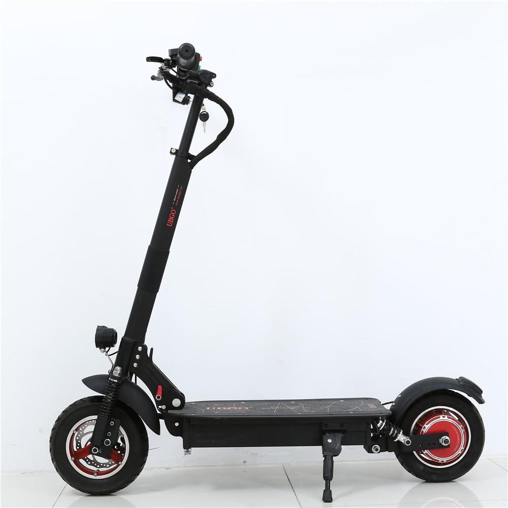 Новый UBGO 1003 один драйвера 10 дюймов складной электрический Scootor с 1000 Вт турбины двигателя