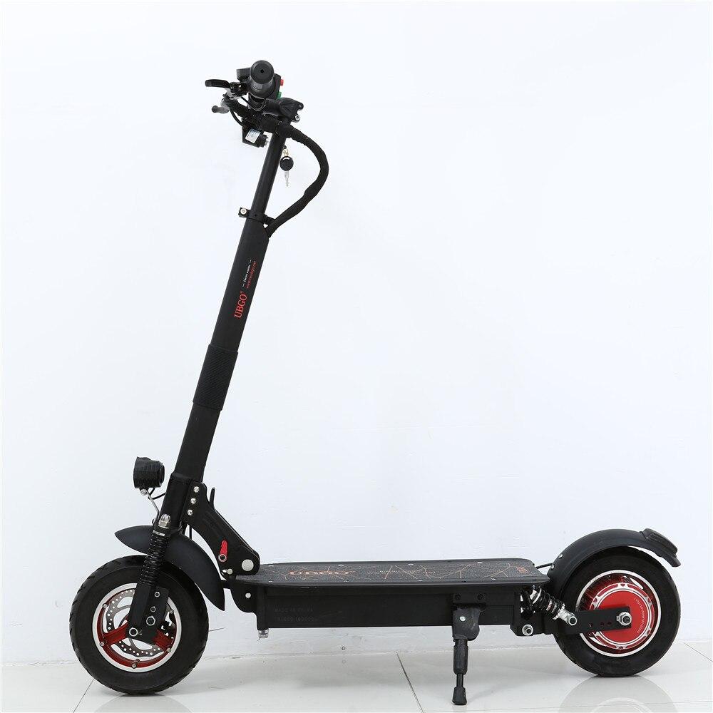 2018 Новый UBGO 1003 один драйвера 10 дюймов складной электрический Scootor с 1000 Вт турбины двигателя