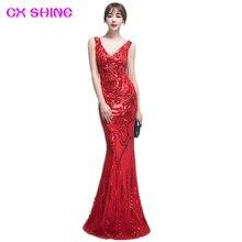 New Feflective Evening dresses CX SHINE Floral pattern sequins mermaid trumpet prom party dress robe de soiree Vestido все цены