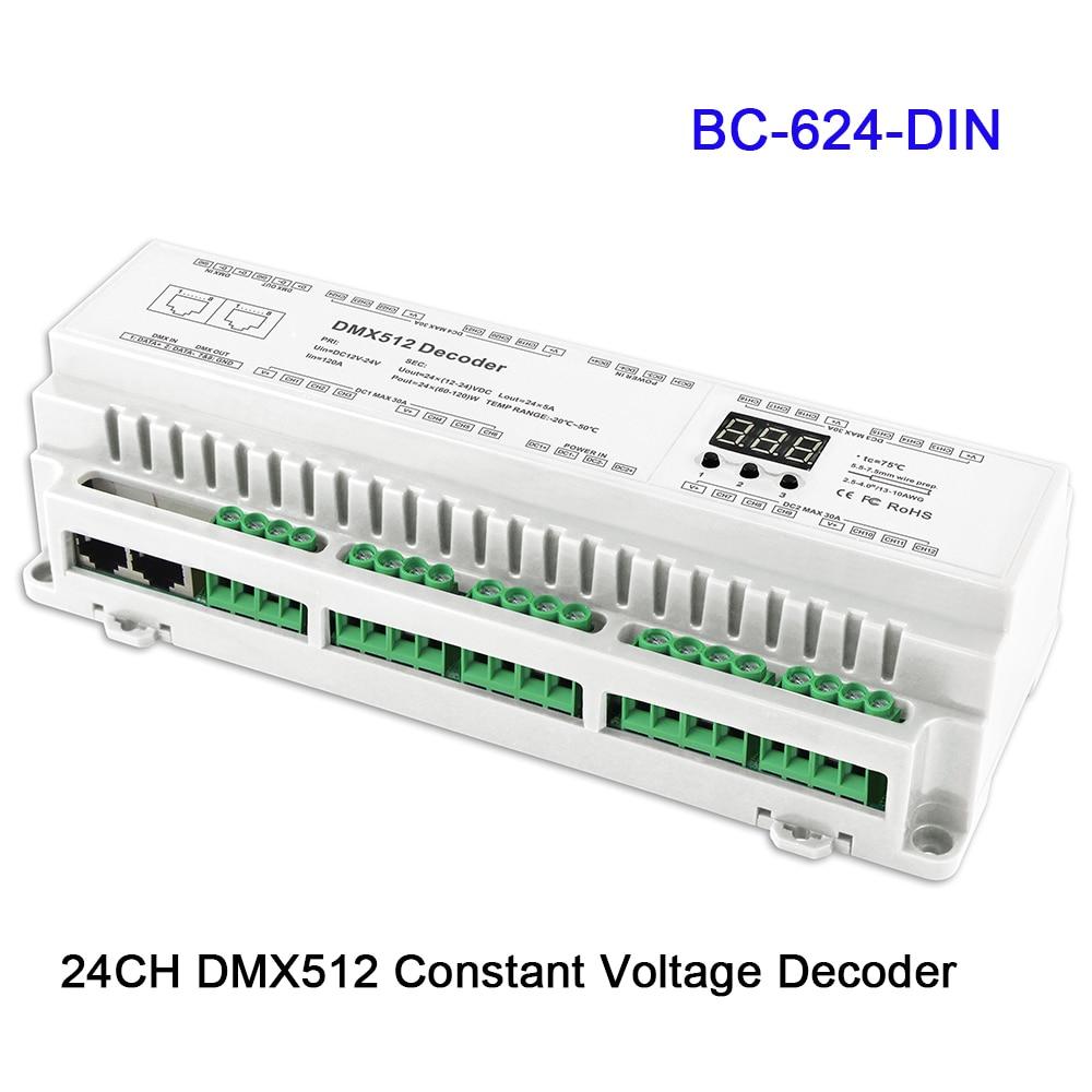 BC-624-DIN/BC-632-DIN/BC-640-DIN 24/32/40CH DMX512/8bit/16bit Input DC12V-24V RJ45 Connect LED RGB/RGBW Strip lamp DecoderBC-624-DIN/BC-632-DIN/BC-640-DIN 24/32/40CH DMX512/8bit/16bit Input DC12V-24V RJ45 Connect LED RGB/RGBW Strip lamp Decoder