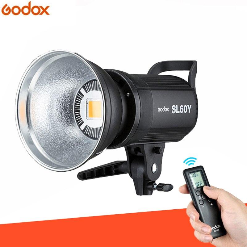 Photo Studio Godox SL-60Y CRI 95+ LED Video Light SL60Y Yellow 3300K Version 60WS Bowens Mount + Remote Controller + Reflector цена