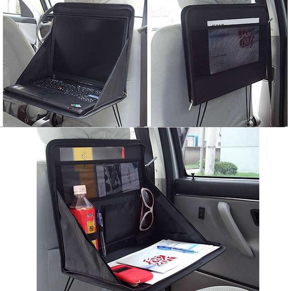 Car Backseat Desk Car Food Laptop Desk Table PC Mount Holder Tray Support Bag Folding Multifunctional Shelving Car Storage