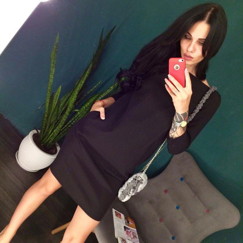 2017-2018 осень новая мода до платья Colin прошел с круглым провода 3/4 рукава Бали платье сексуальный назад V шеи молнии платье костюмы