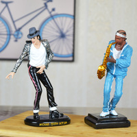 decoration art gift craft For dec oration fashion resin craft bar American country music figure