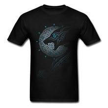 Cool RAGNAROK MOON T Shirt Men T-Shirt Tribal Art Tshirt For