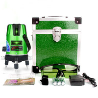 2 lines 3 points Self leveling Green Light Laser Level Laser Profissional And 360 Degree Rotary Cross Line Laser Nivel