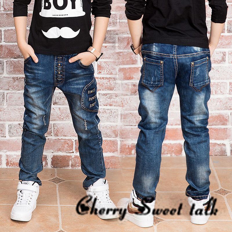 New boy jeans jeans boy for 2 to 14 years old children wear fashionable style and
