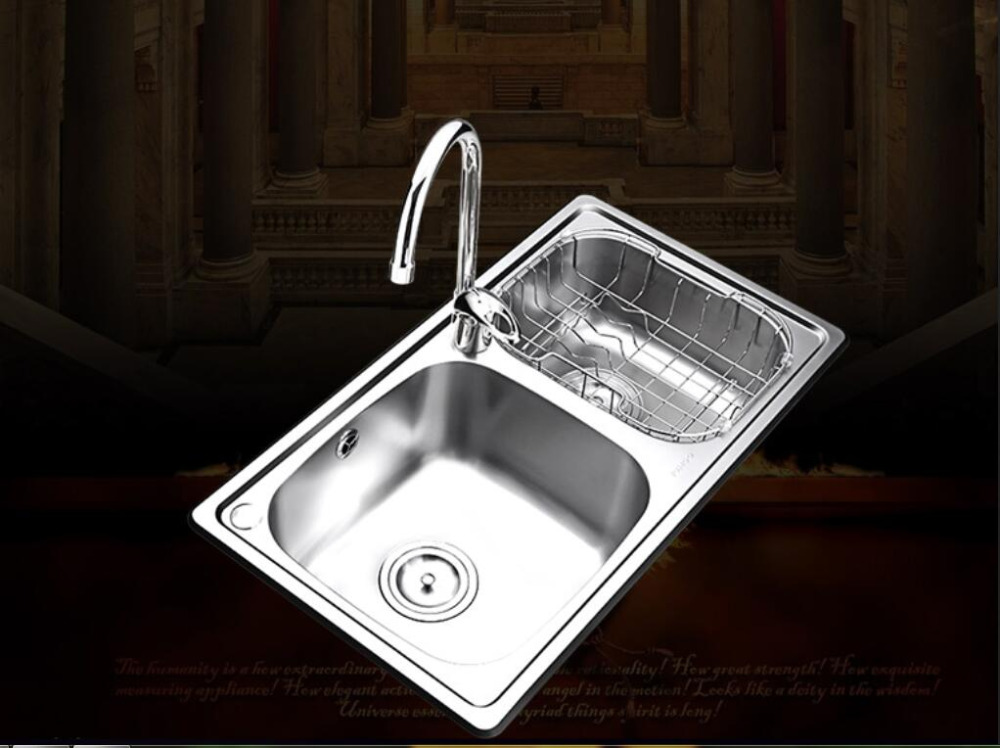 Sink sink thick double package kitchen 304 stainless steel brushed sink pool Tao Taopen LU4257