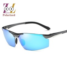 Cool GOOD Quality brand designer aviator polarized sunglasses men  2017 Fashion metal frame  sun glasses Driving Eyeglasses