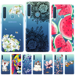 For Samsung Galaxy A9 2018 Phone Case Cover Silicone Colorful Printing Back Case Cover For Samsung A9 2018 A920 A920F 6.3 Inch