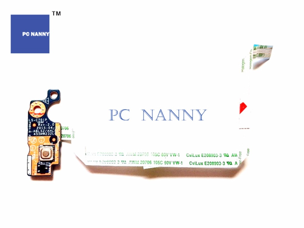 Painstaking Pc Nanny For Hp Pavilion 15-ac 15-af Power Switch On Computer & Office Off Button Board Ls-c701p Pk343003u00 Works