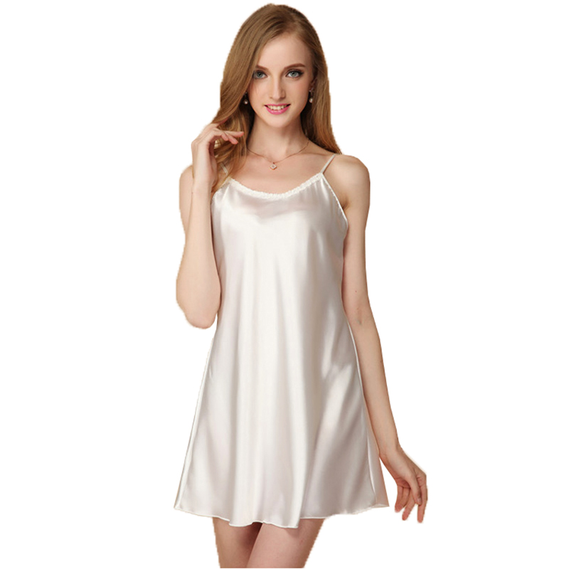 Sexy Silk Women Nightgowns Mini Sleeping Wear Nightwear -3975