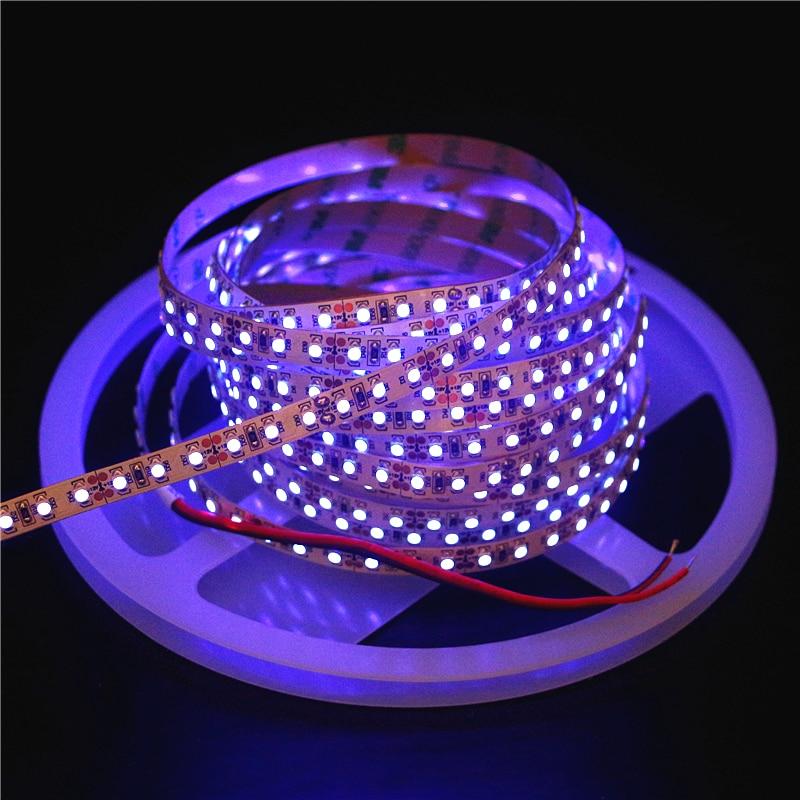 0.5m 1m 2m 3m 4m 5m 12V UV LED Strip SMD 5050 3528 2835 Black Flexible LED Light 60leds/m 120leds/m Ultraviolet Ray Tape Lamp