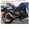 Customized escapamentos AR titanium alloy aluminium exhaust muffler gp exhaust for ya**ha YZF-R1 escapamento de carro