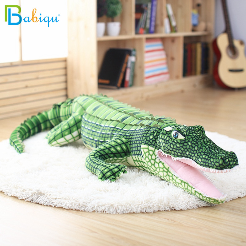 1pc 105cm Stuffed Animal Real Life Alligator Plush Toy Simulation Crocodile Dolls Kawaii Ceative Pillow for Children Xmas Gifts