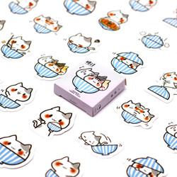 1pc/set Kawaii Bowl of Cat Memo Pad Diary Stickers Pack Posted It Kawaii Planner Scrapbooking Stationery Escolar School Supplies