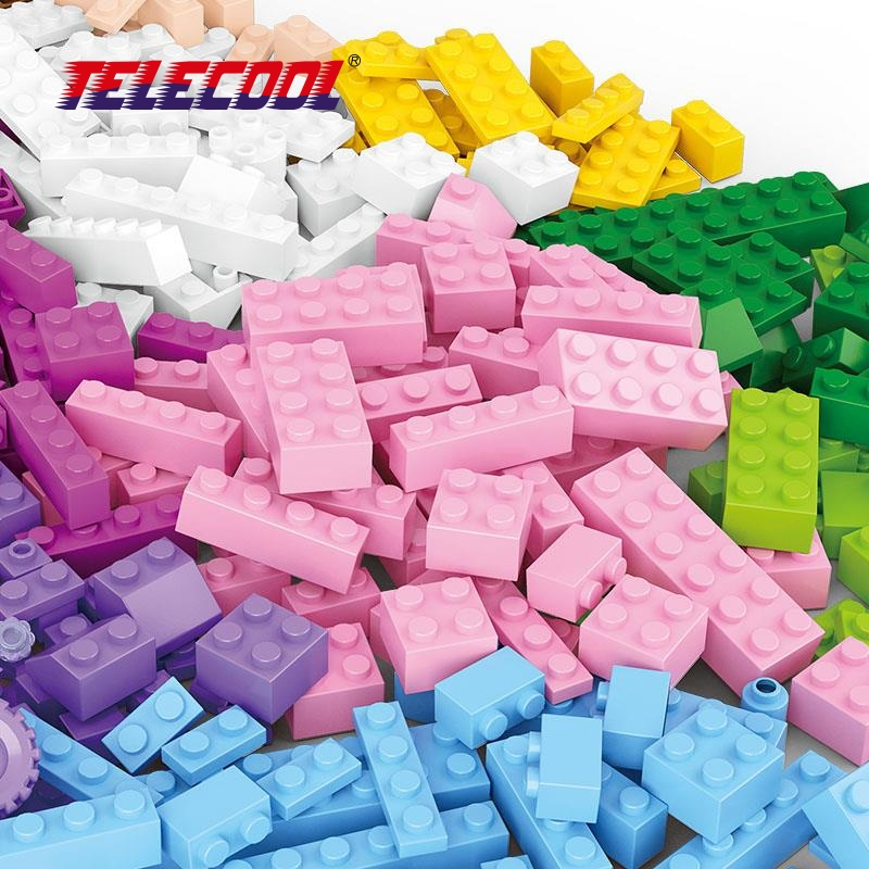 TELECOOL 415 Pieces DIY Creative Bricks Toys for Children Educational Building Blocks For Kids Classic Toy Compatible with Lepin graffiti painting educational diy toy for children