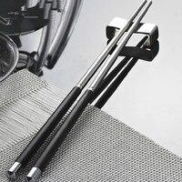 Nueva llegada 5 pares de acero inoxidable japoneses palillos de respetuoso del medio ambiente de palillos accesorios de vajilla de cocina herramientas