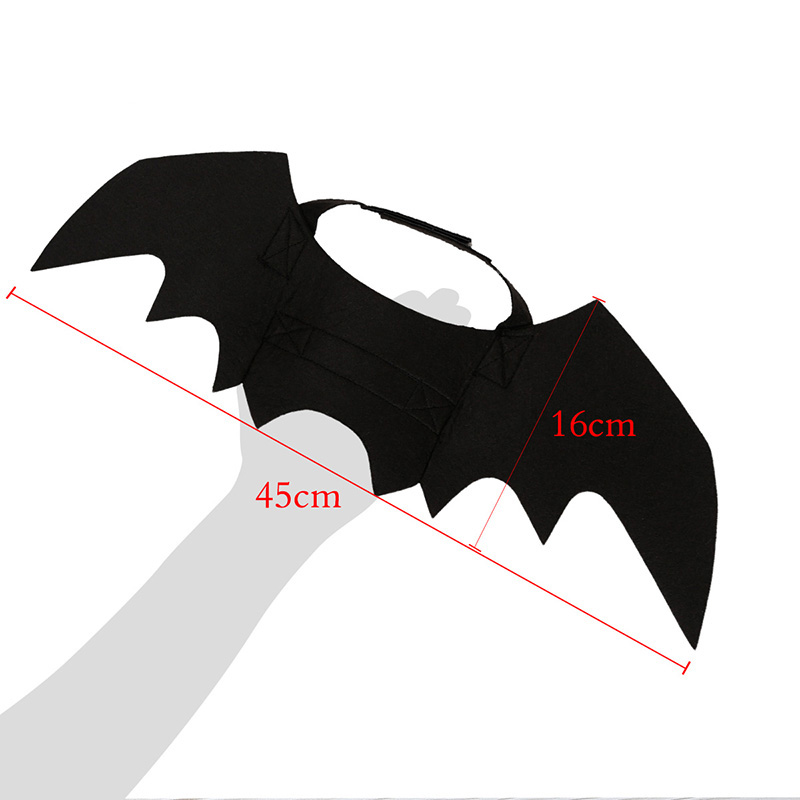 Hoomall 1pc Funny Cats Cosplay Costume Halloween Pet Bat Wings Cat Bat Costume Fit Party Dogs Cats Playing Pet Accessories #5