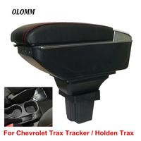 For Chevrolet Trax Tracker/Holden Trax armrest box USB Charging heighten Double layer central Store content cup holder ashtray