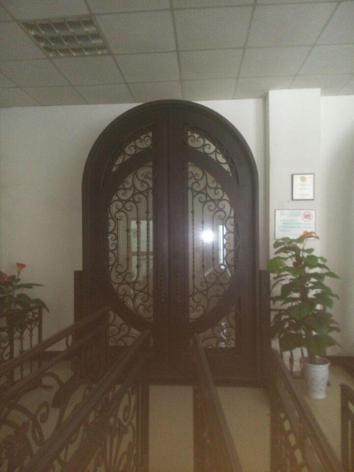 Arch Door Design Insulated Double Doors Entry Door With Storm Door