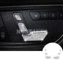 For Benz ML W166 2012-2015 GL X166 Rhinestone Style Seat Adjust Button Cover  2013 14df6830c4bb