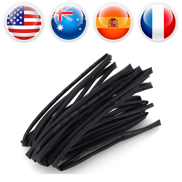 Diameter 3mm Heat Shrink Tubing Shrinkable Tube 5 Meter Black Heat Shrink Tube for fishing Tackle Electrical Insulation
