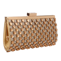 Acrylic diamonds  women clutch evening bags acrylic wedding bridal handbags silver gold shoulder bags with chains
