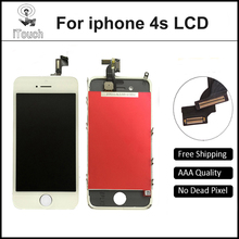Hot Sale Grade AAA Quality Front Screen LCD For iPhone 4s Display With Digitizer Touch Screen Replacement White and Black Color