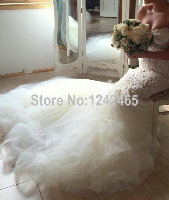 Vestido De boda Novia Sexy tamaño 14 la longitud del piso país con ...