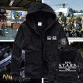 Resident Evil S.T.A.R.S Special Tactics Of Search And Rescue Team PlugSuit Zip Hoodie Cosplay Cotton Print Coat High Qulity