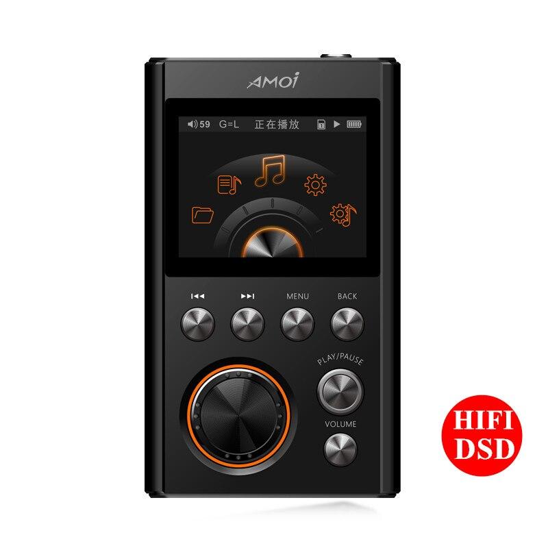 Amoi C20 8GB MP3 Player Lossless HIFI Music High Quality Mini Audiophile Full format decoding walkman Support APE FIAC WAV DSD64 компрессор fiac fx250