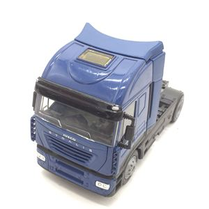 Image 3 - 1:43 sacle alloy iveco Transport vehicles,high simulation iveco Heavy Duty Trailer,Collecting alloy car models,free shipping
