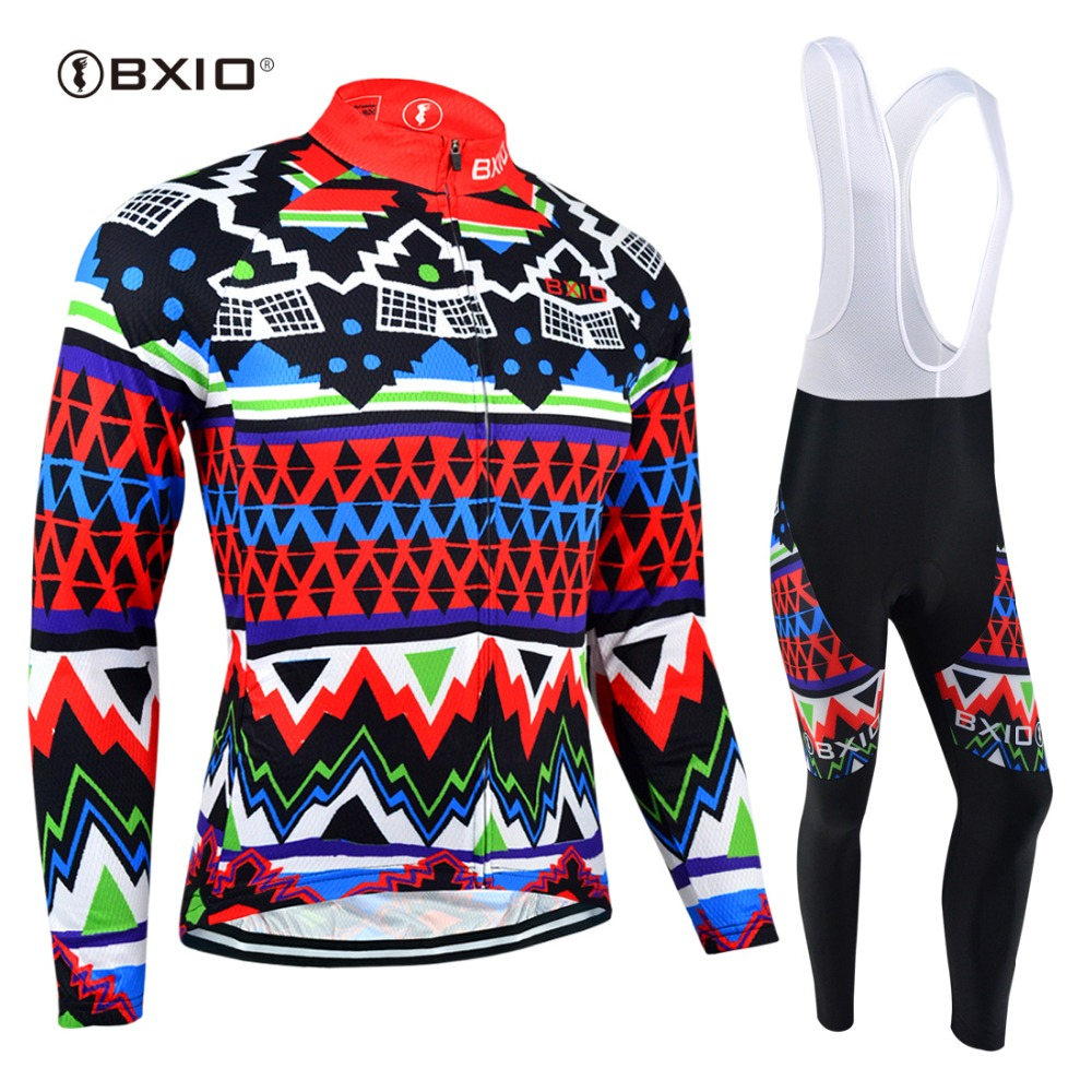 BXIO Hot Winter Fleece Cycling Jersey Set Men's Long Sleeve Bicycle Cycling Clothing Bike Wear Outdoor Ropa Ciclismo BX-0109F027 top quality 2017 sky cycling jersey set long sleeve jacket tight cycling clothing wear breathable ropa ciclismo bike jerseys