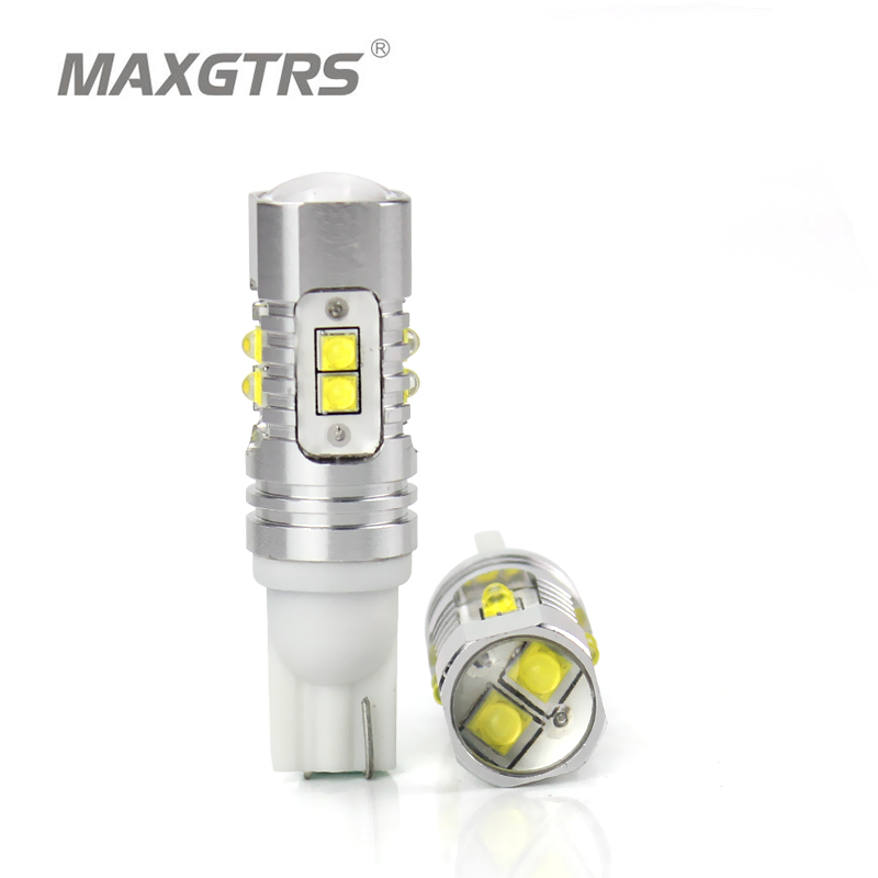 2x T10 194 168 920 912 921 High Power 25W 50W Extreme Bright CREE Chip XB-D LED-pærer for parkeringsplass Backup-baklys