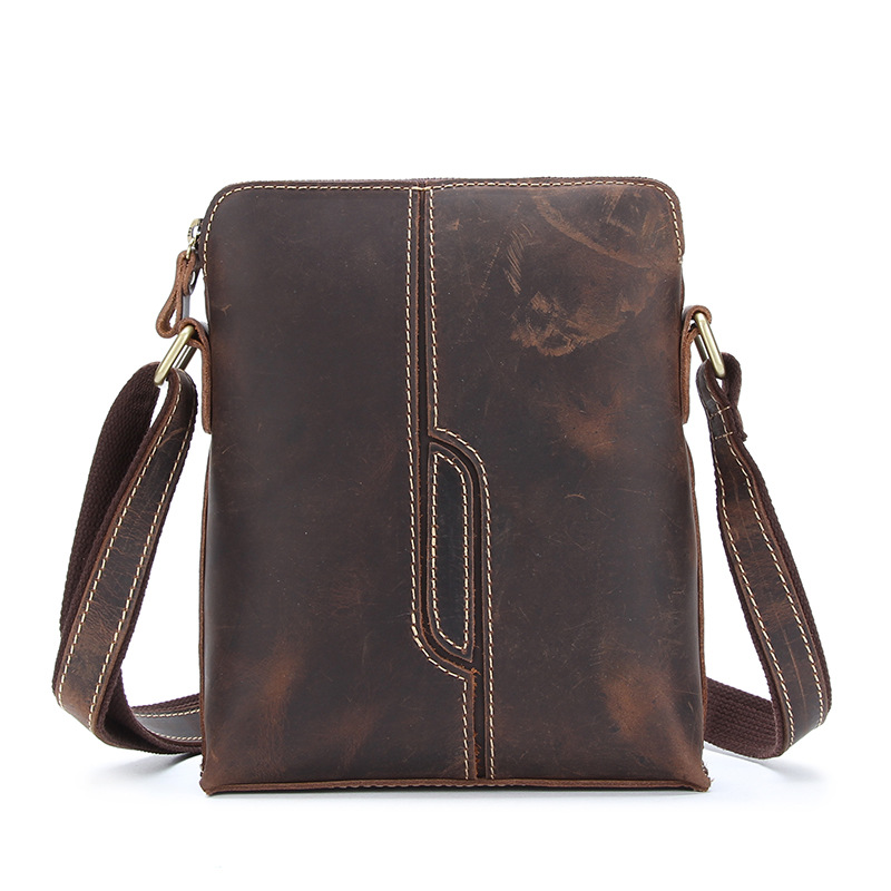 YISHEN Crazy Horse Genuine Leather Men Bags Small Casual Flap Shoulder Crossbody Bags Mini Vintage Messenger Men's Bag MSXY1026 neweekend genuine leather bag men bags shoulder crossbody bags messenger small flap casual handbags male leather bag new 5867