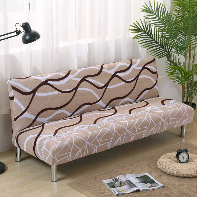 Universal Armless Sofa Bed Cover Folding Seat Slipcover Stretch Covers Cheap Couch Protector Elastic Futon Printing Fl In From Home