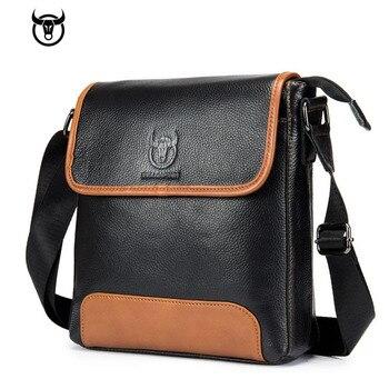 New brand Genuine Leather Men's Bag cow leather Messenger bag for male fashion shoulder bag Mens crossbody Bag vintage Handbags Cross Body Bags