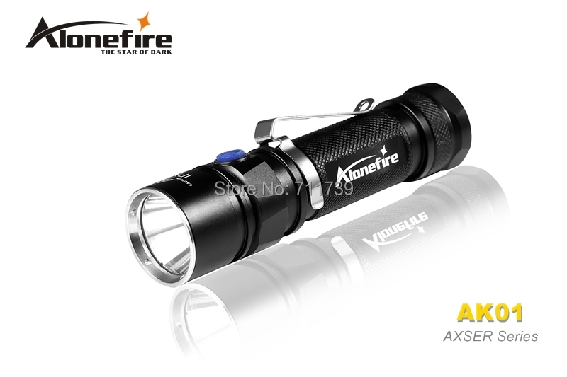 AloneFire AK01 AXSER Series CREE XM-L2 LED 3 mode Lightweight mini led flashlight torch For 1x18650 rechargeable fashion travel cosmetic bag makeup case multifunction organizer trousse de maquillage necessaire free shipping