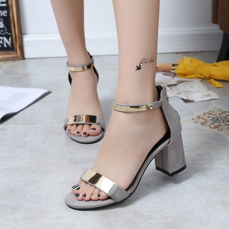 5abda08c4c US $11.77 49% OFF|SHIDIWEIKE Ladies Shoes 2019 Summer Gladiator Sandals  Women High Heels Sandals Party Wedding Shoes Glitter Ladies Sandals b590-in  ...